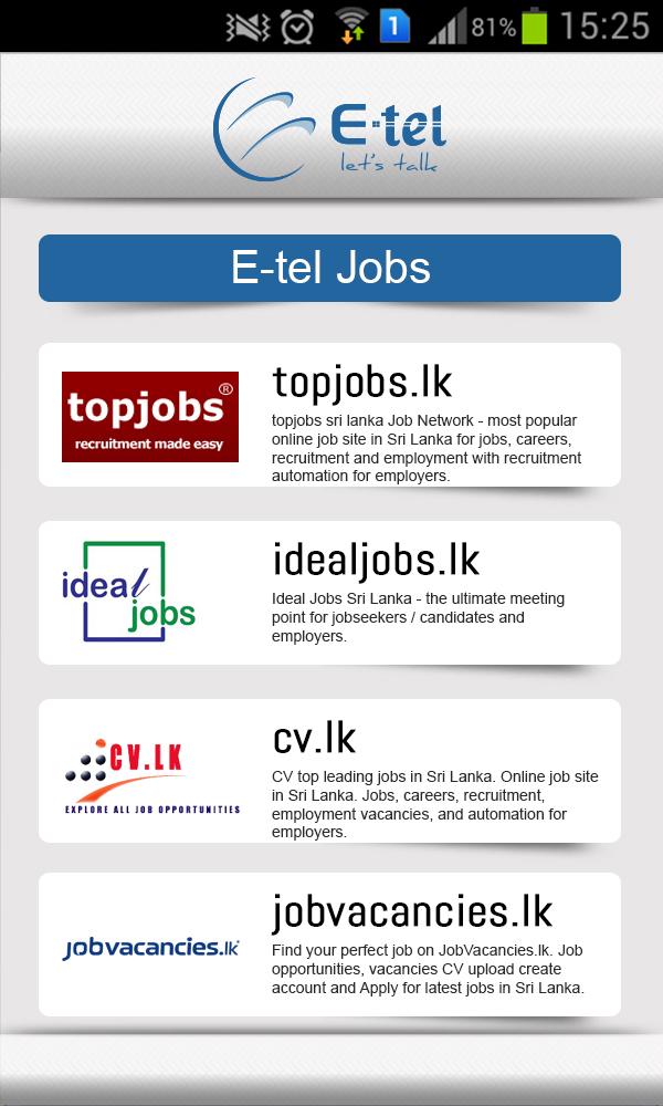 E-tel jobs
